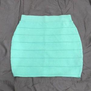 Dresses & Skirts - Mint green ribbed mini skirt